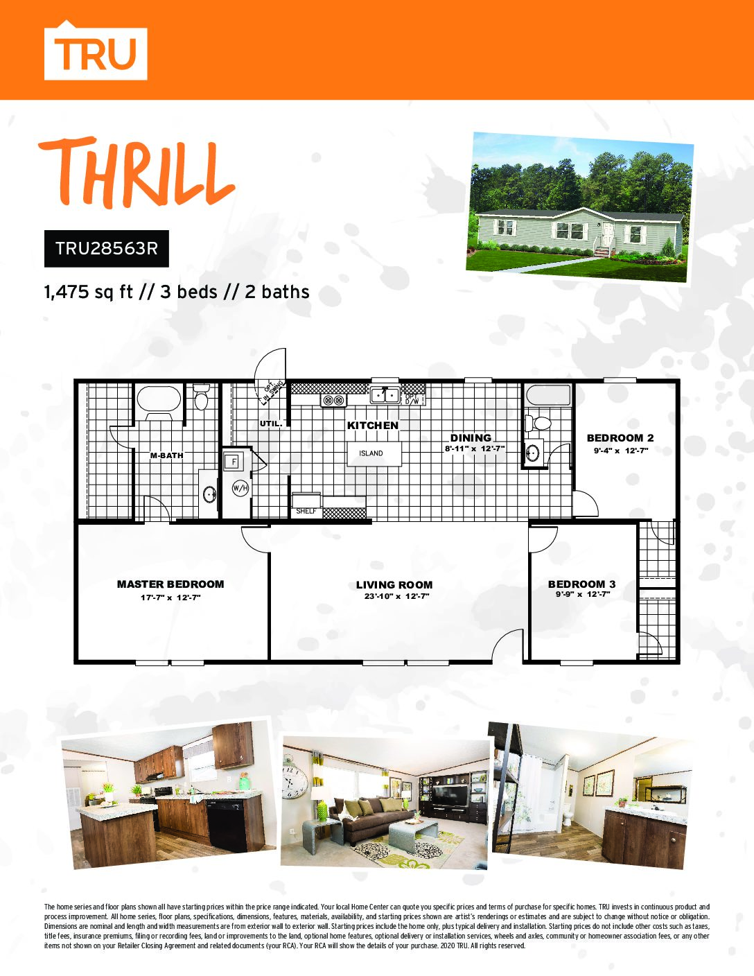 TRU MH THRILL 3BRS 2 BS -SPACIOUS..